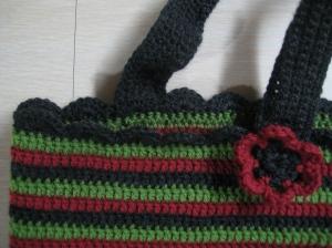 crochet bag close