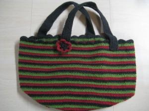 crochet bag flat