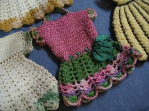 crochet dress coloured
